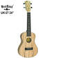 Ukulele koncertowe UK-27 black maple WestRoad