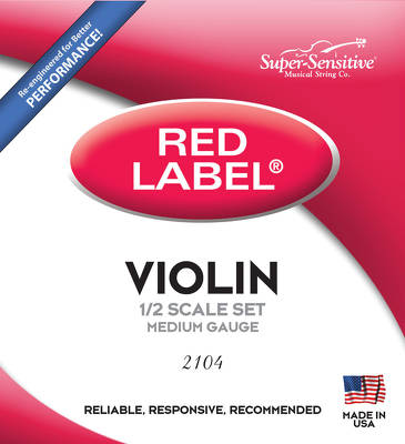 Struny skrzypcowe 2104 Red Label 1/2 Super-Sensitive