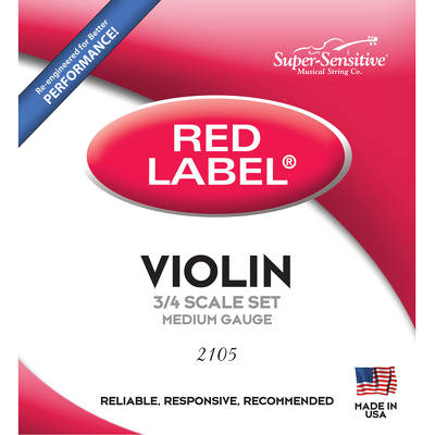 Struny skrzypcowe 2105 Red Label 3/4 Super-Sensitive